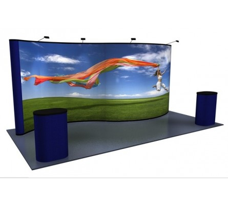10' x 20' Serpentine Graphic Premium Pop Up Display