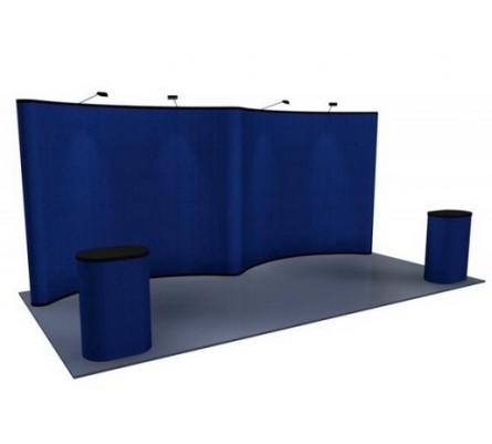 10' x 20' Gullwing Fabric Premium Pop Up Display