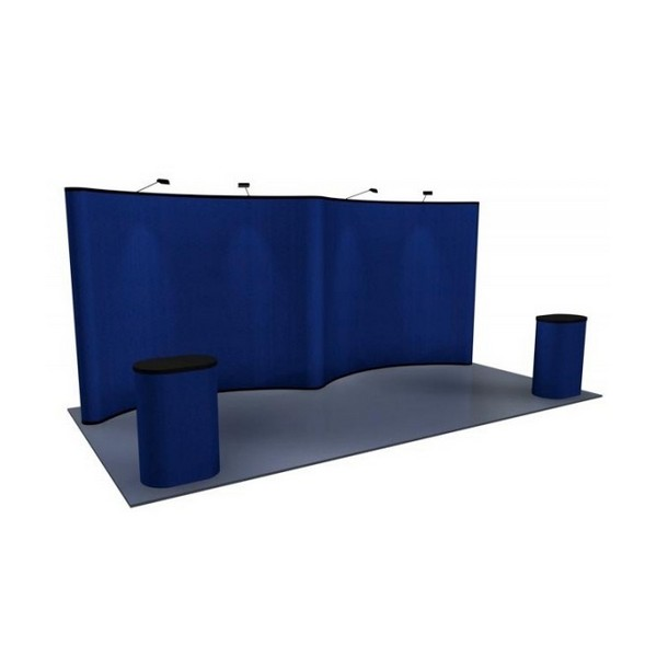Fabric Pop Up Exhibition Stands : Gullwing fabric premium pop up display