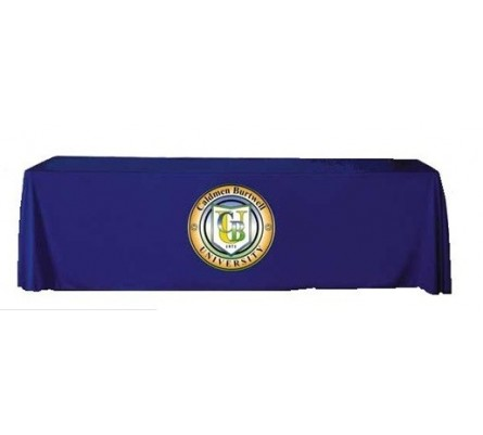 8ft Full Table Cover with Applique Logo