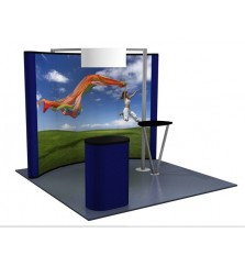 Premium 8x10 (10ft) Graphic Popup with Kiosk
