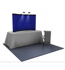 Premium 8ft Reduced Height Fabric Popup Tabletop Display
