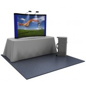 Premium 8ft Reduced Height Graphic Popup Tabletop Display