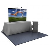 Premium 8ft Reduced Height Full Graphic Popup Tabletop Display