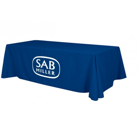 8ft Economy Table Cover with 1 Color Perma Logo