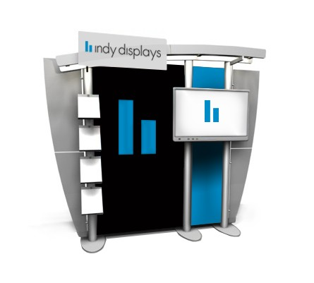 10' x 10' XRline Custom xr.18 Monitor Trade Show Display