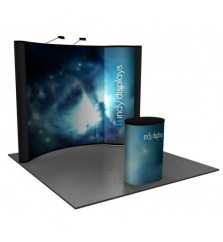 Portable Backlit Bubble Graphic Panel 10' Pop Up Display