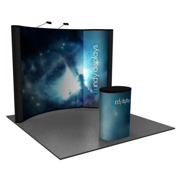 portable backlit bubble graphic panel 10 u0026 39  pop up display