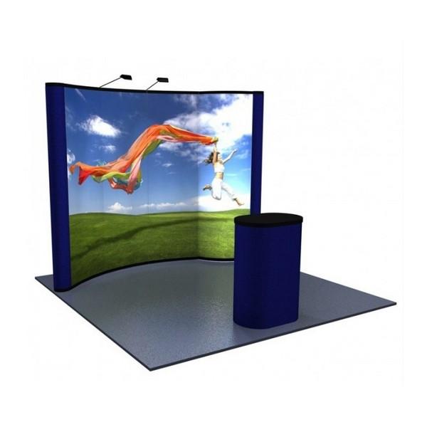 portable backlit bubble graphic panel 10 39 pop up display. Black Bedroom Furniture Sets. Home Design Ideas