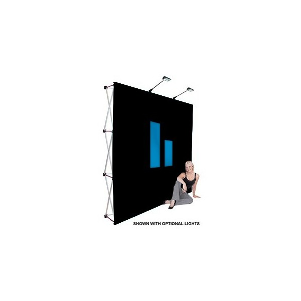 10ft Tension Stretch Fabric Popup Trade Show Displays - IndyDisplays