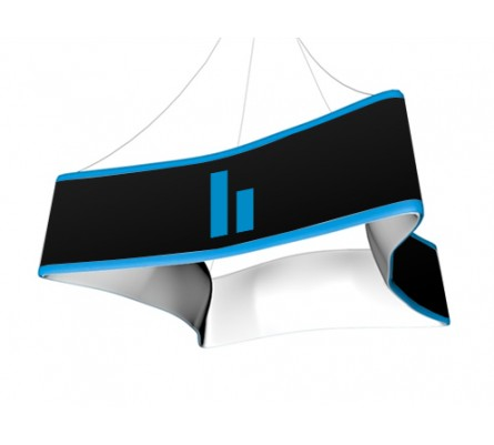 Square Curved Tension Fabric Hanging Sign