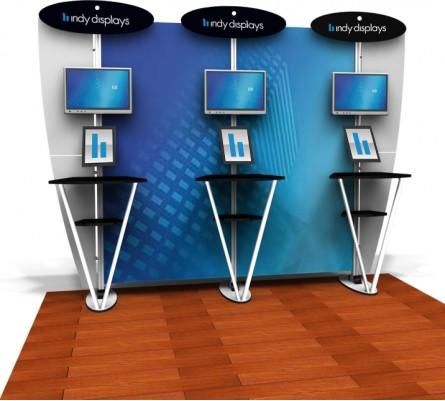 10ft Exhibit Line Kiosk Display Kit