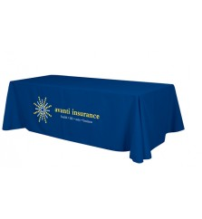 8ft Full Table Cover with 2 Color Perma Logo