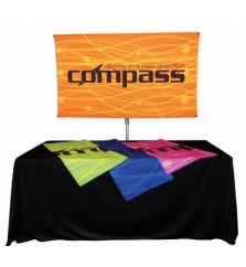 Compass Telescopic Rotating Banner Stand Kit 1
