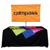 "36"" x 60"" Compass Telescopic Rotating Banner Stand Kit 1"