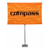 "36"" x 78"" Compass Telescopic Rotating Banner Stand Kit 2"