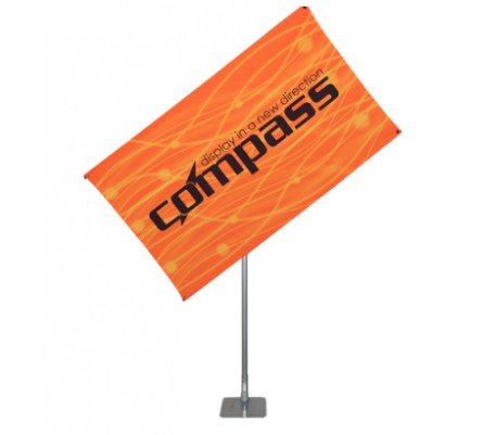 """40"""" x 75"""" Compass Telescopic Rotating Banner Stand Kit 3"""