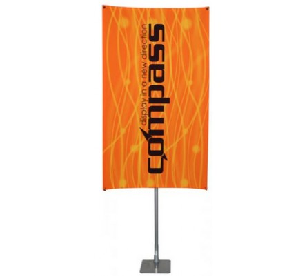 """48"""" x 72"""" Compass Telescopic Rotating Banner Stand Kit 4"""