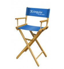 1 Color Perma Logo - Bar Height Director Chair