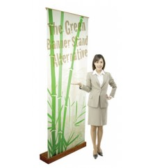 Premium Eco-1st Bamboo Retractable Banner Stand