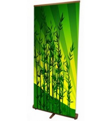Econo Bamboo Retractable Banner Stand