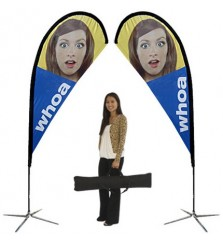 Small Double Sided TearDrop Banner Stand