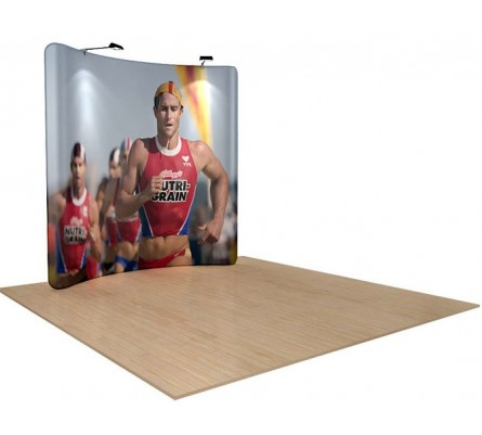 8' x 8' Waveline Tension Fabric Display