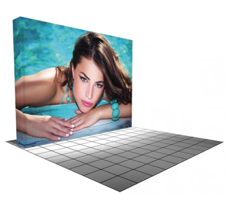 Burst 10ft Flat Backlit Pop Up Display