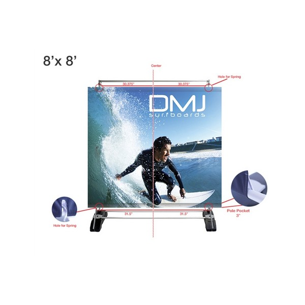 Double Sided Outdoor Portable Banner Wall Indydisplays