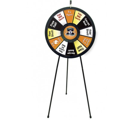Trade Show Event Prize Wheel Display Kit