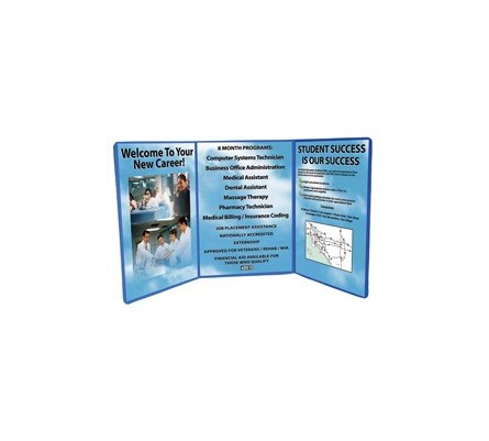 4ft Tri Fold Graphic Tabletop Display