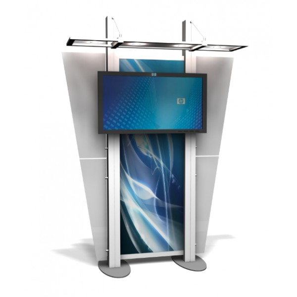 Trade Show Booth Kiosks : Xrline xr custom modular trade show monitor kiosk
