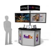 Exhibit Line Double LCD Screen Trade Show Kiosk