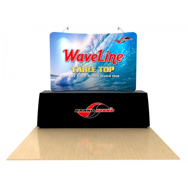 8 Waveline Tension Fabric Table Top Trade Show Display