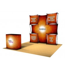 Backlit Xpressions Xpress 8ft (3x3) LED Pop Up Display