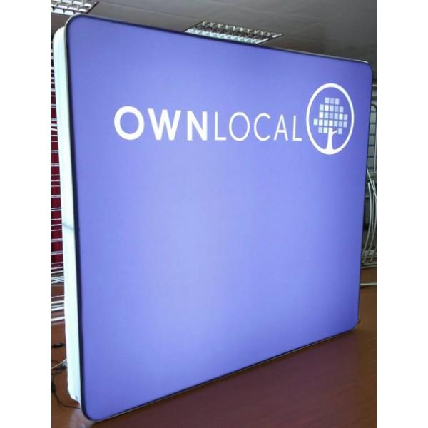 8 Foot Portable Led Fabric Light Box Wall Display