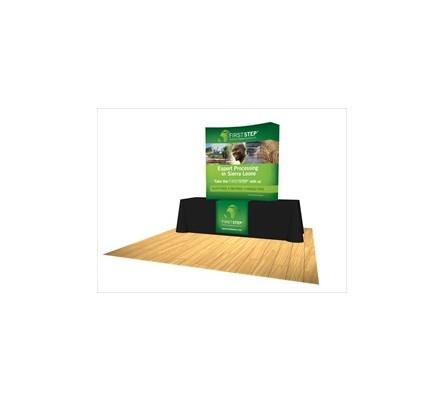 5ft Burst Curved Tabletop Pop Up Display
