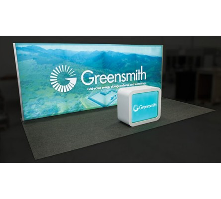 10x20 Led Lightbox Trade Show Booth Package