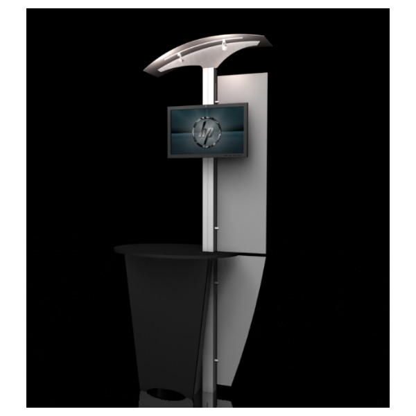 Modular Exhibition Stands Tall : Agam nlc modular monitor stand trade show kiosk display