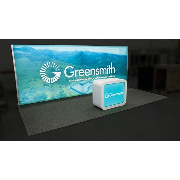 10 X 20 Trade Show Light Box Display Package