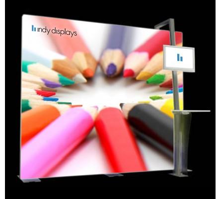 10' Hybrid LED Lightbox Monitor Kiosk Display Package