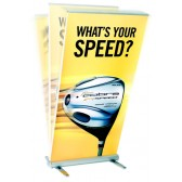 MediaScreen Double-Sided Outdoor Banner Stand Rental