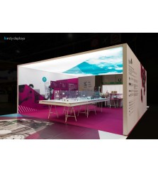 Frameless Enclosed LED Lightbox SEG Island Exhibit
