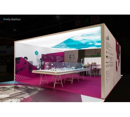 Frameless Enclosed LED Lightbox SEG Island Exhibit