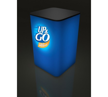 Pump Square Light Box Sales Pedestal