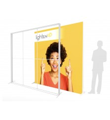 10ft LightenUp Tool-Free Fabric Backlit Display