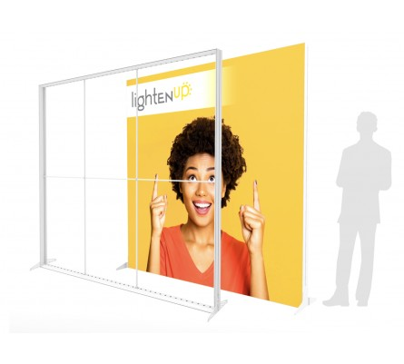 10ft LightenUp Tool-Free Fabric Backlit Display
