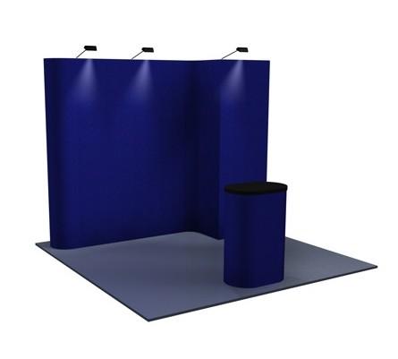 Premium 8x10 (10ft) Alcove Fabric Pop Up Display