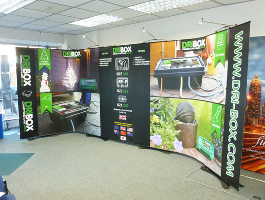 banner stand seamless back wall display