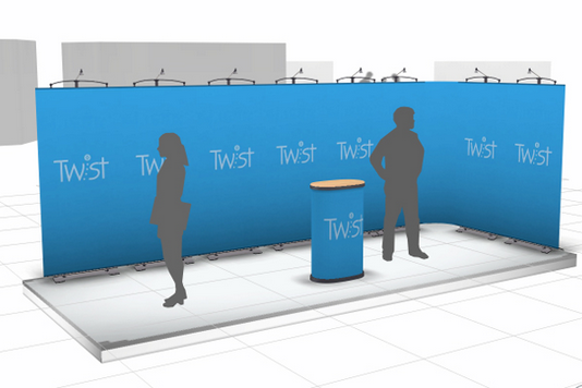 20ft twist banner stand wall